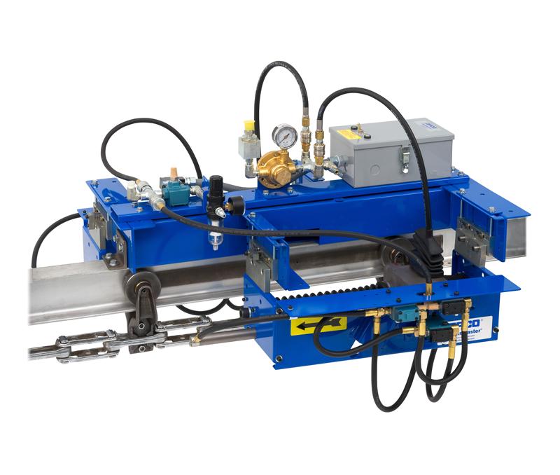 Engrasador OPCO modelo OP 201, engrasador de ruedas Sealed Trolley para sistemas transportadores aéreos