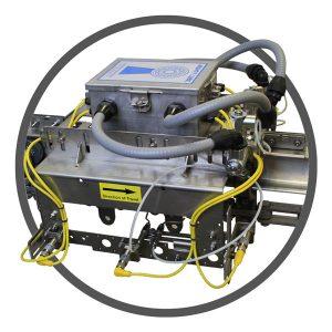 Unidad de control de lubricación y monitoreo de transportadores de la industria alimentaria montada en riel transportador