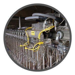 Sistema de control y lubricación de transportadores para la industria alimentaria.