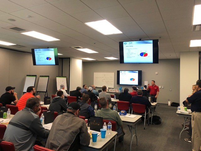MOCS Spring 2019 Course - Prentice Richardson with Nissan North America - presenting on predictive and reliability maintenance.