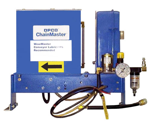 OP37A Drop Finger Conveyor Chain Lubricator